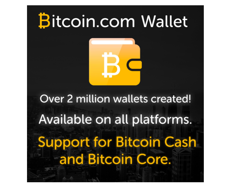 Bitcoin.com celebrates 2 million wallets