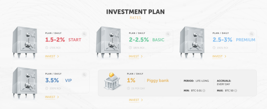 cryptowl.group investment plans