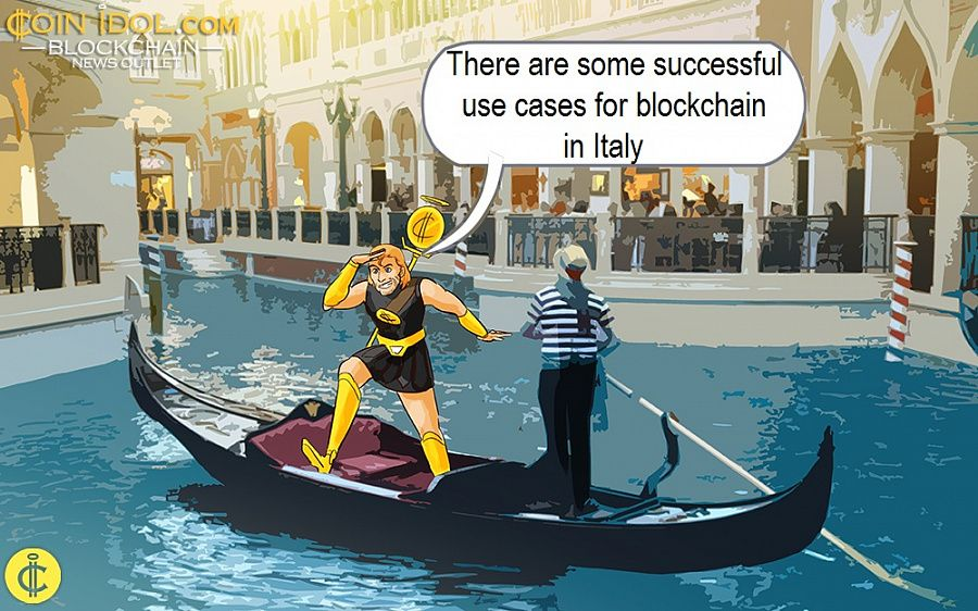 There are some successful use cases for blockchain in Italy