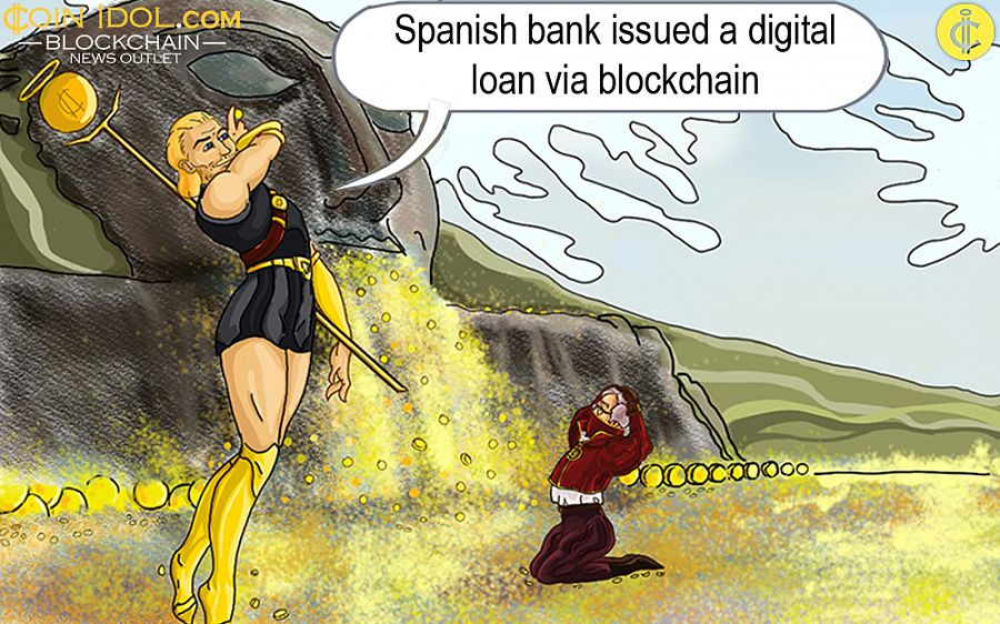 BBVA issued loan using blockchain