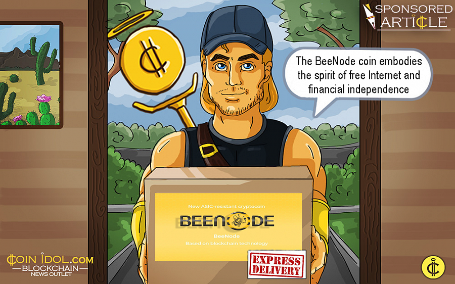 The BeeNode coin embodies the spirit of free Internet and financial independence.