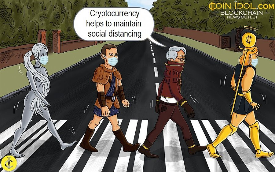 Cryptocurrency helps to maintain social distancing