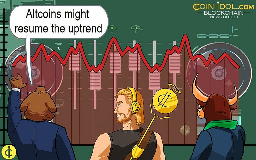Altcoins might resume the uptrend
