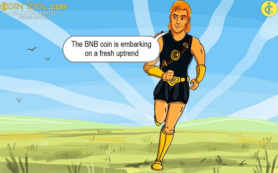 The BNB coin is embarking on a fresh uptrend