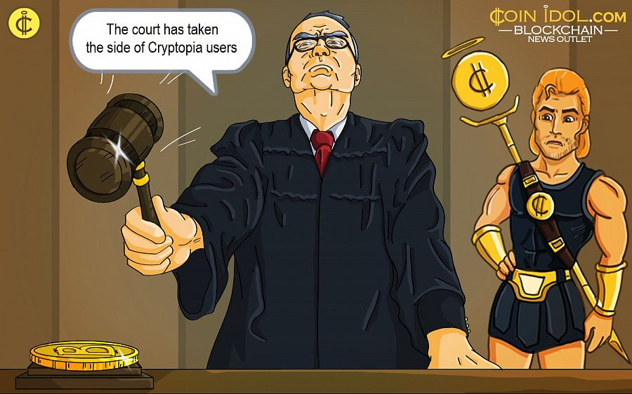 The court has taken the side of Cryptopia users