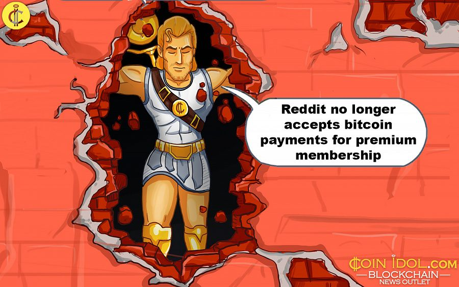 Reddit no longer accepts bitcoin payments